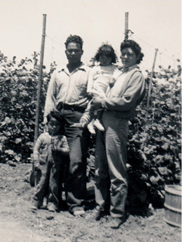 Antonio family at their farm