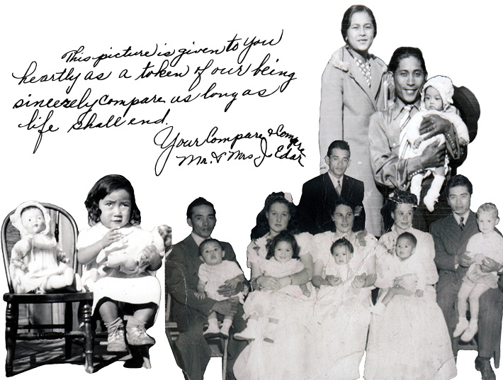 collage of Filipino American children