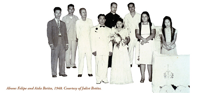 Felipe and Aida Betita's wedding, 1948