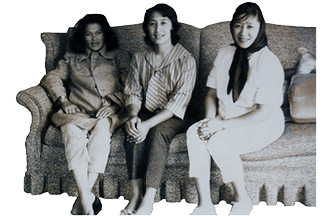 Anghilita Vea with her girlfriends, Carol and Helen Curaza.