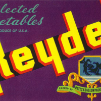 Reydel Selected Vegetables Packing Label