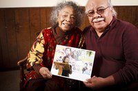 Joe and Margie Talaugon with Picture of Margie