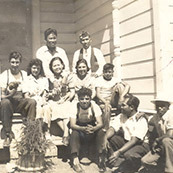 Mr. & Mrs. Salvador Reyes at Steele Ranch, with Visiting Relatives from San Francisco, 1940
