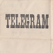 Telegram from Lily Aradanas to Pedro Aradanas