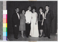 Ronald and Violeta Edar with Parents at Their Wedding Reception