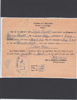 Issued Document Certifying Birth