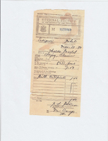 Receipt of Birth Certificate